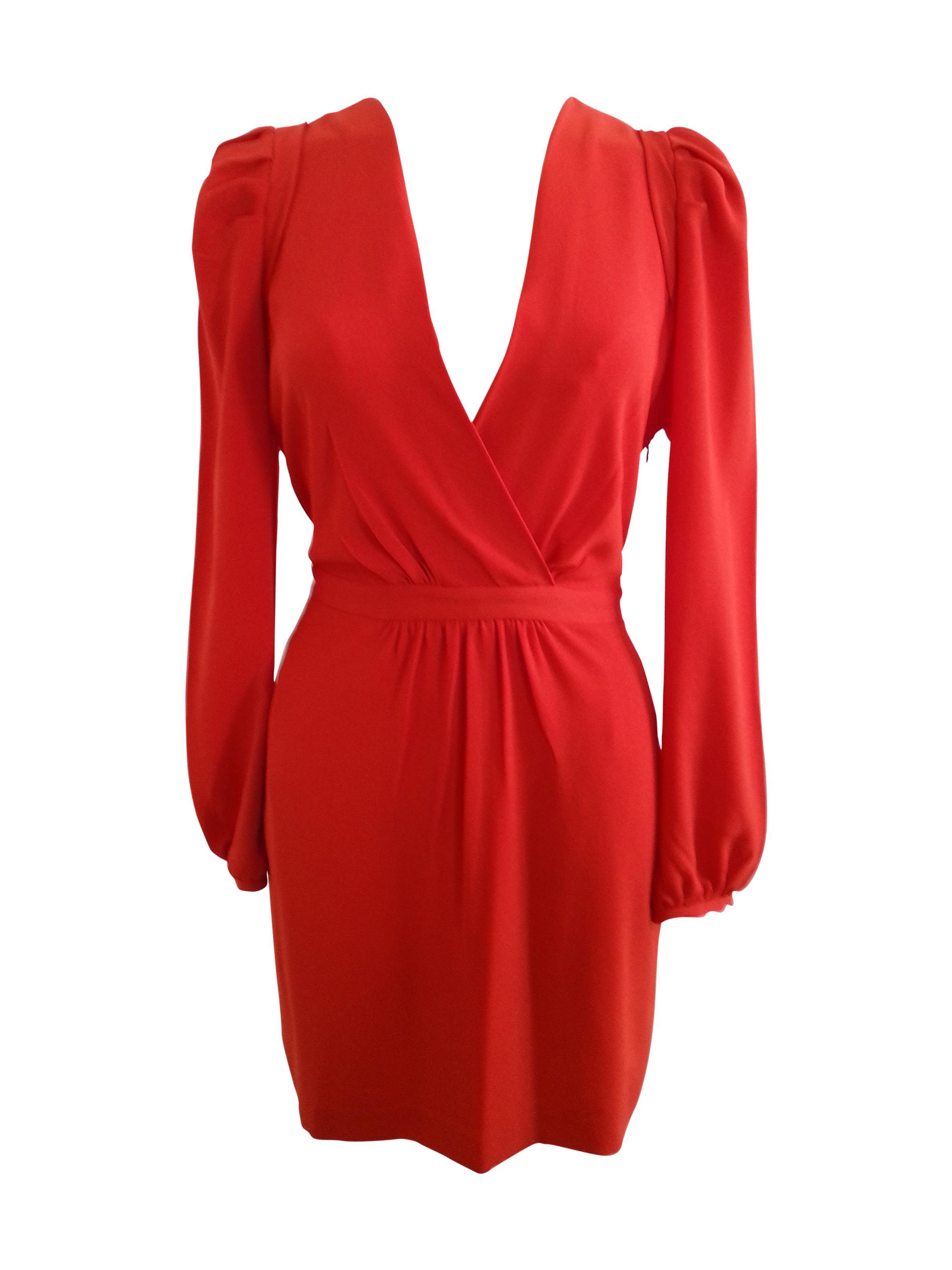 Robe maje rouge