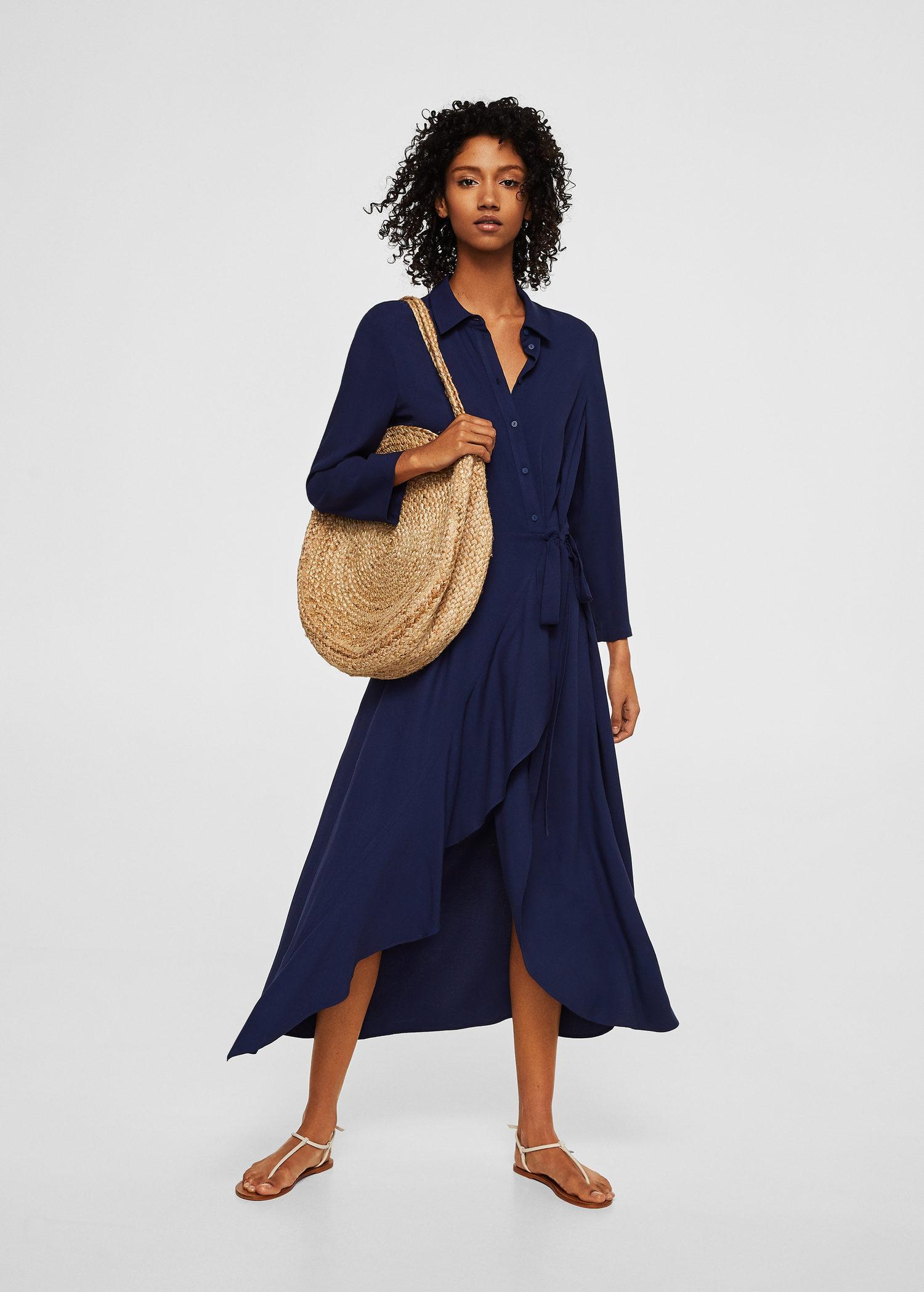 Robe mango bleu