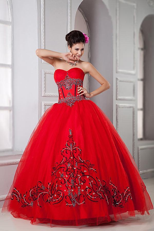 Robe mariée princesse rouge