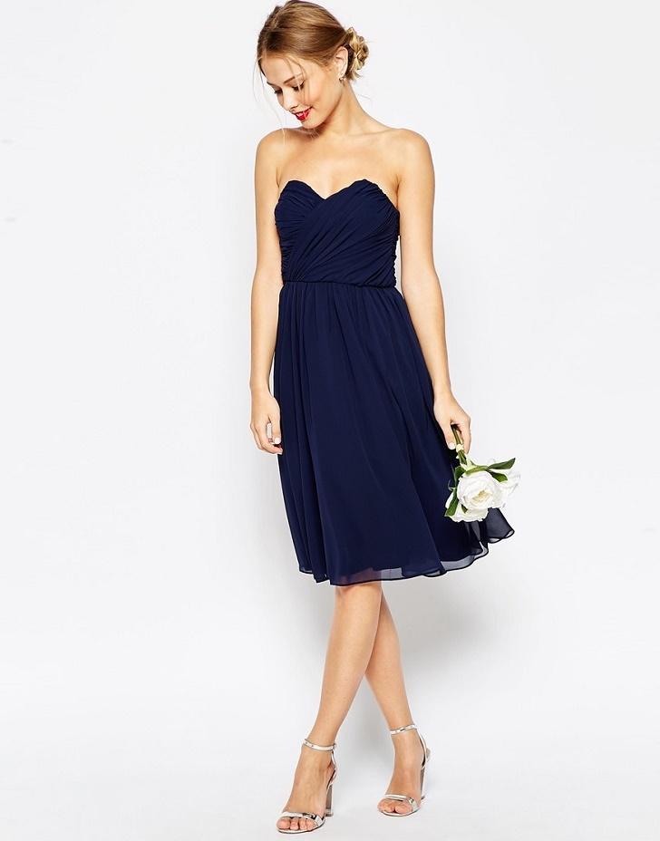 Robe mariage bleu marine