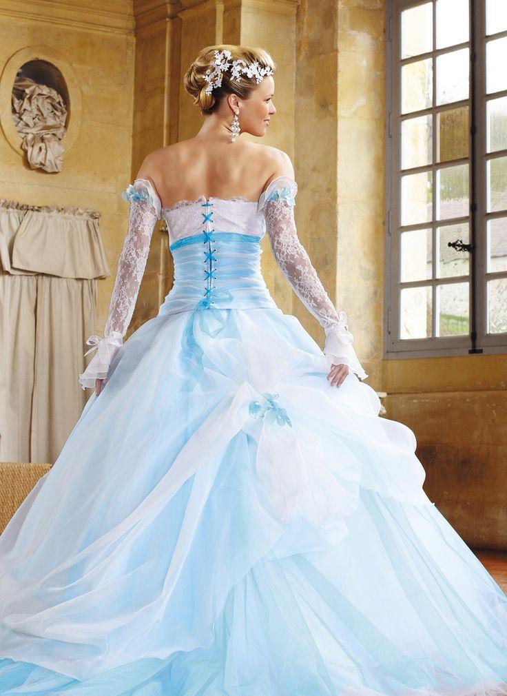 Robe mariage bleu turquoise