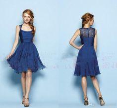 Robe mariage civil bleu