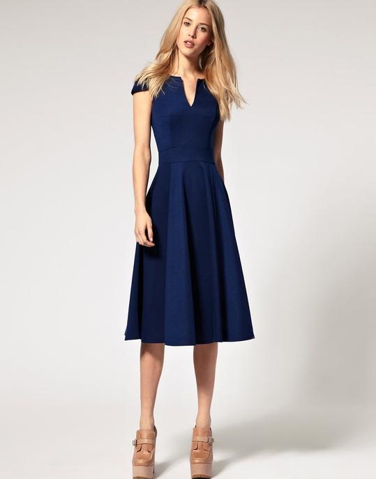 Robe mariage invité bleu