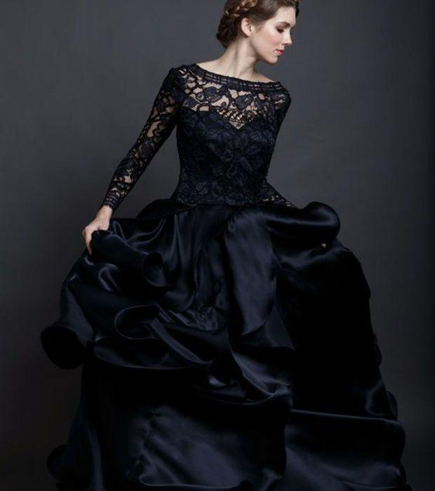 Robe mariage noir