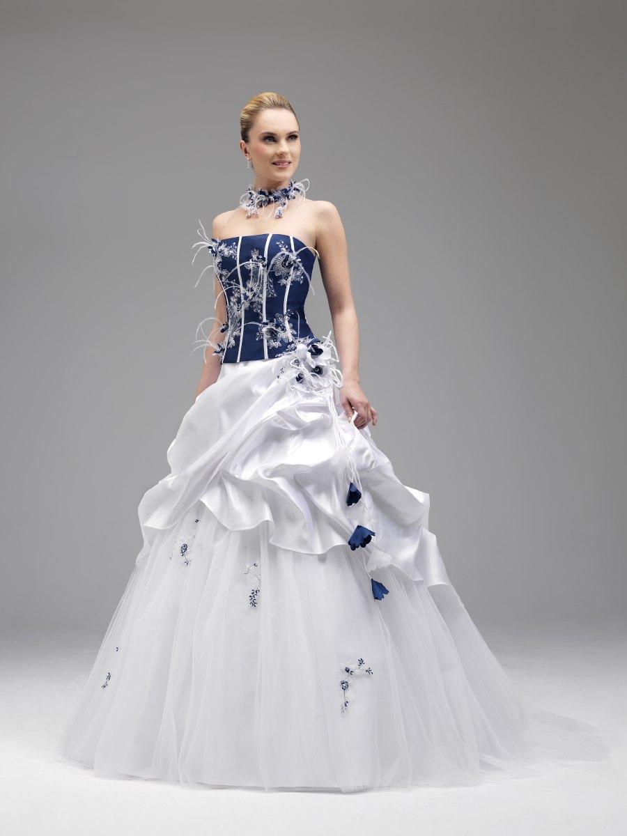 Robe mariee bleu