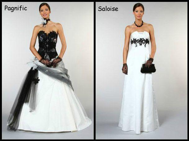 Robe mariee noir et blanc