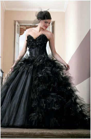 Robe mariee noir