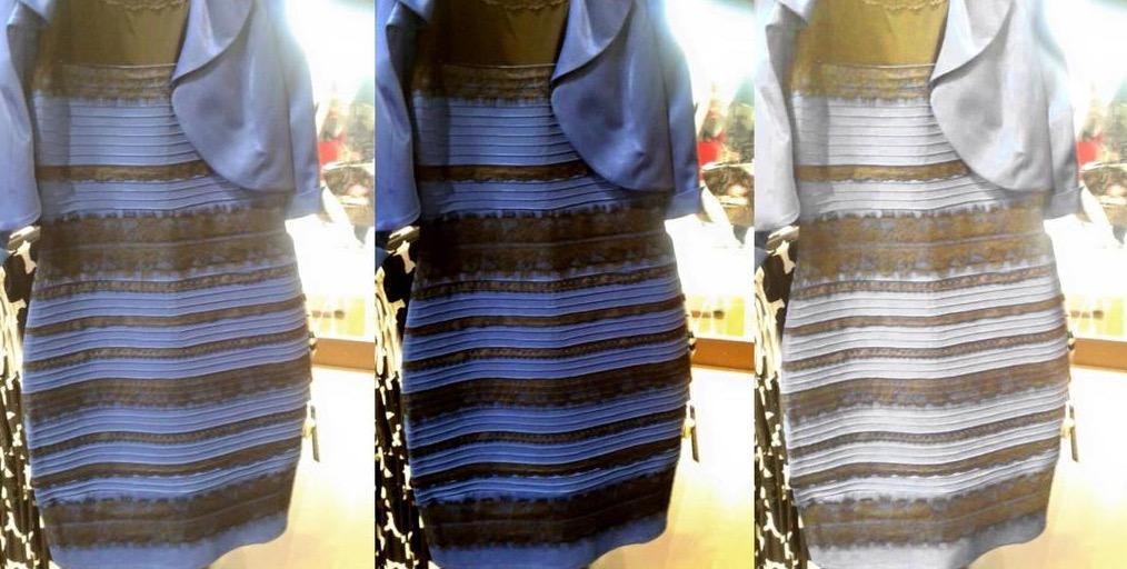 Robe marron bleu