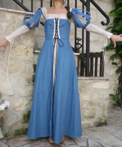 Robe medievale bleu