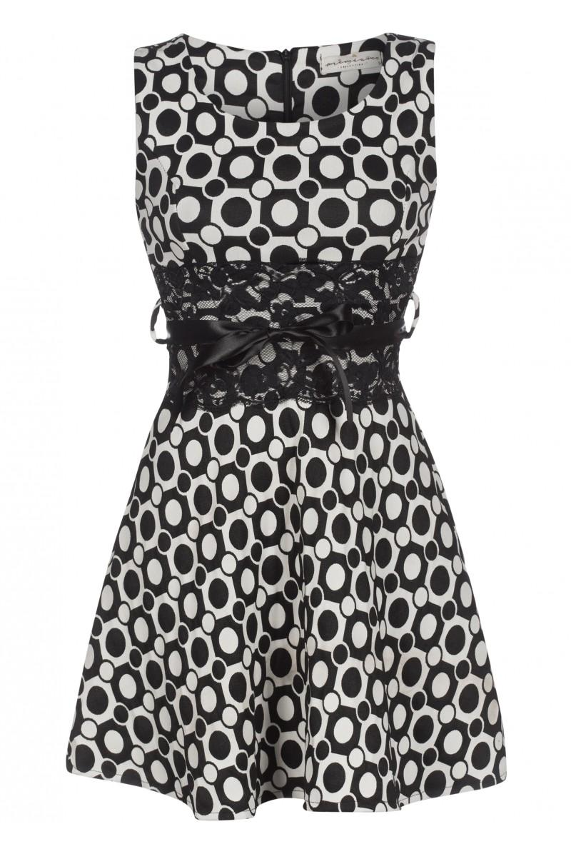 Robe motif noir et blanc