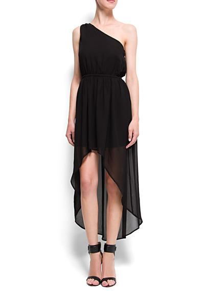 Robe noir asymétrique