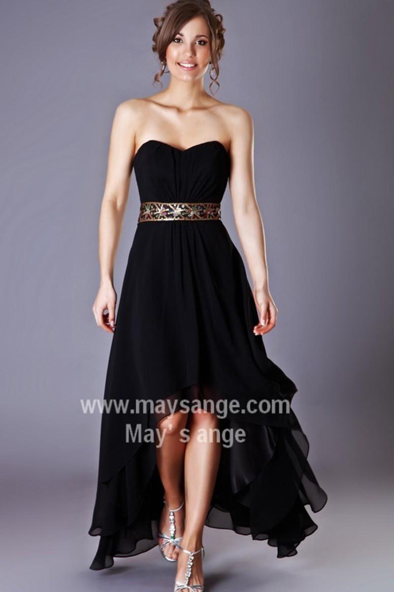 Robe noir bustier