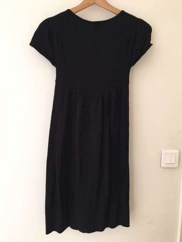 Robe noir coton