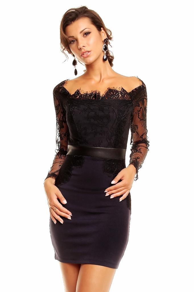 Robe noir courte pas cher
