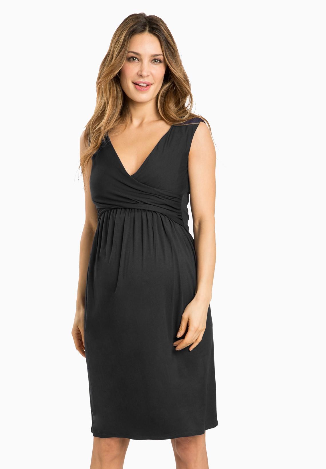 Robe noir de grossesse
