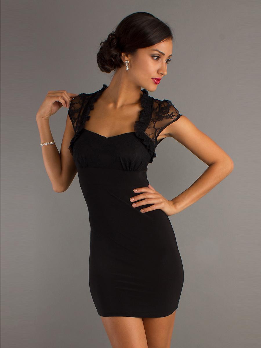 Robe noir de soirée courte