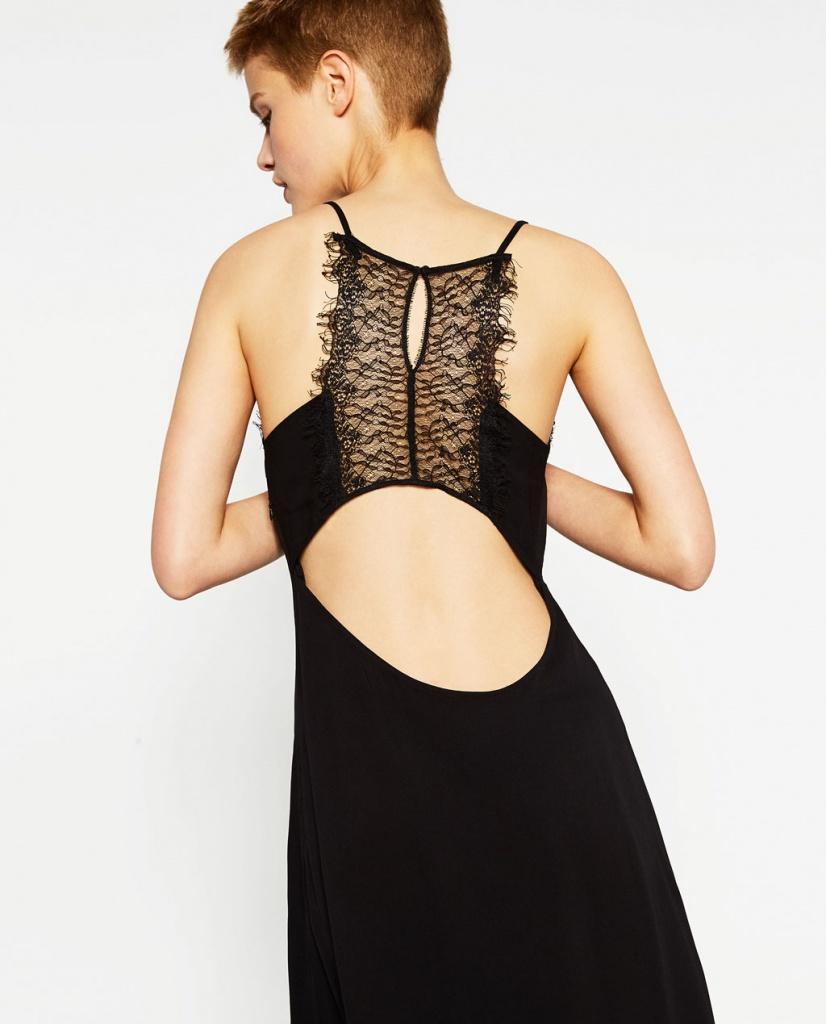 Robe noir decolleté dos