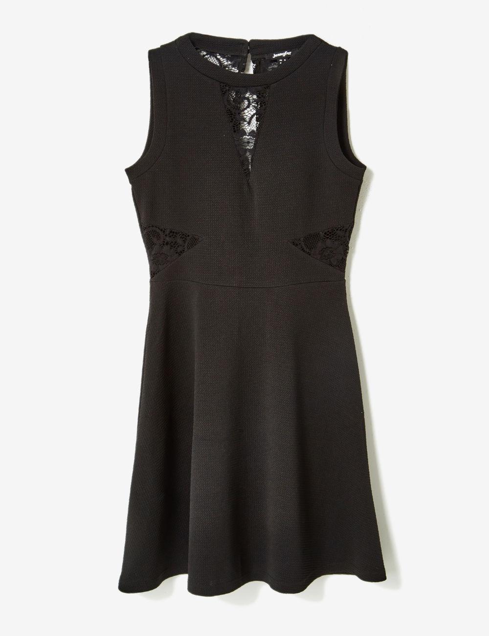 Robe noir dentelle jennyfer