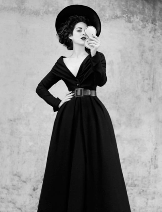 Robe noir dior