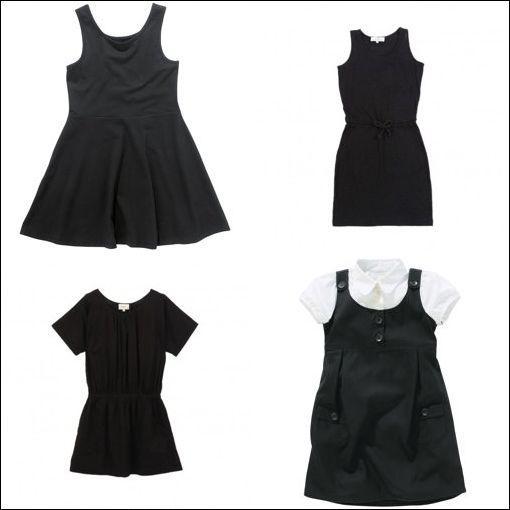 Robe noir enfant