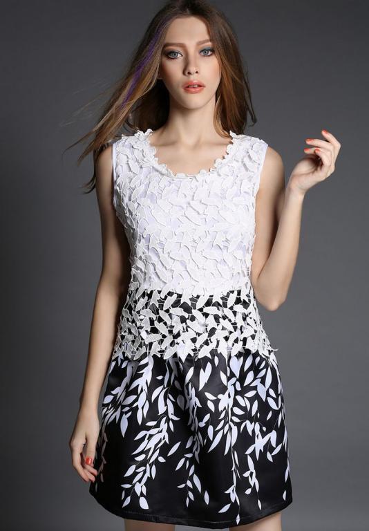 Robe noir et blanc chic