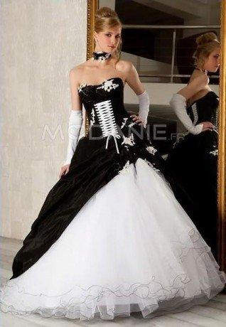 Robe noir et blanc mariage