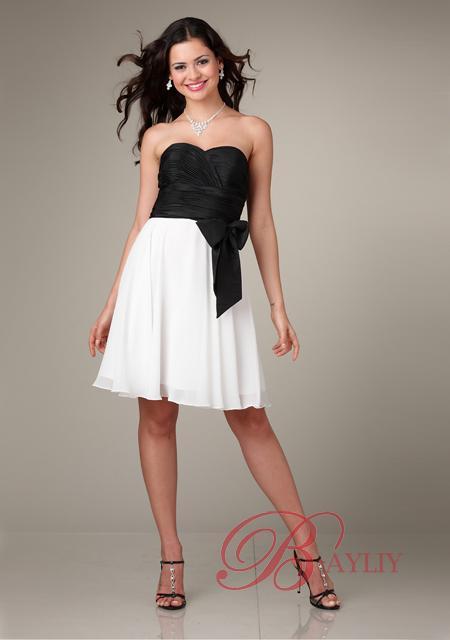 Robe noir et blanc pour mariage