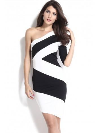 Robe noir et blanc