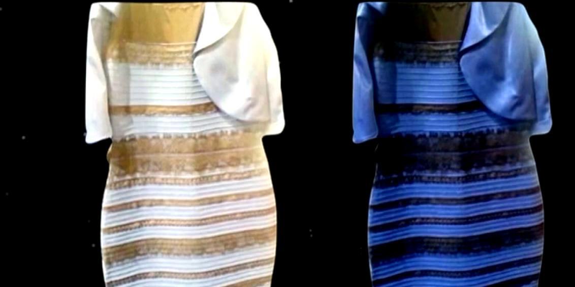 Robe noir et bleu ou blanche et dorée
