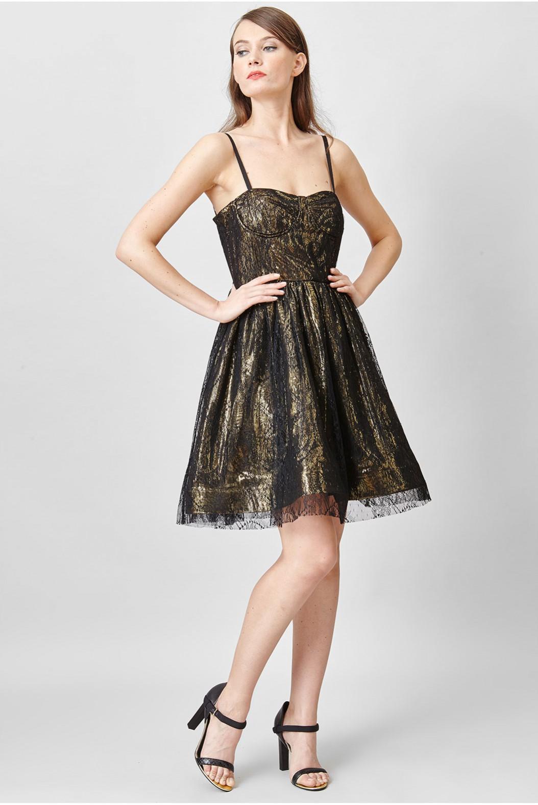 Robe noir et dorée