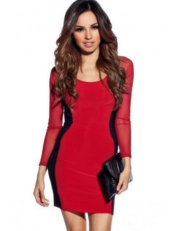 Robe noir et rouge femme