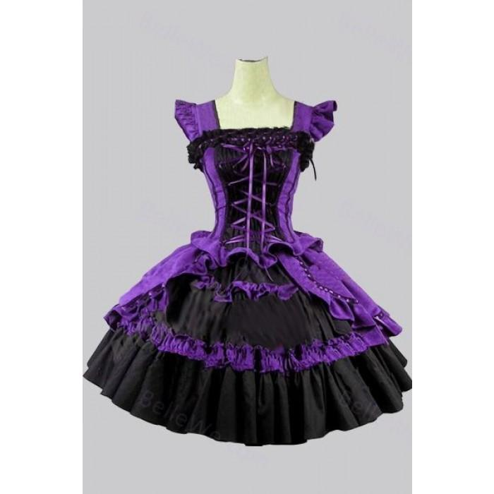 Robe noir et violette