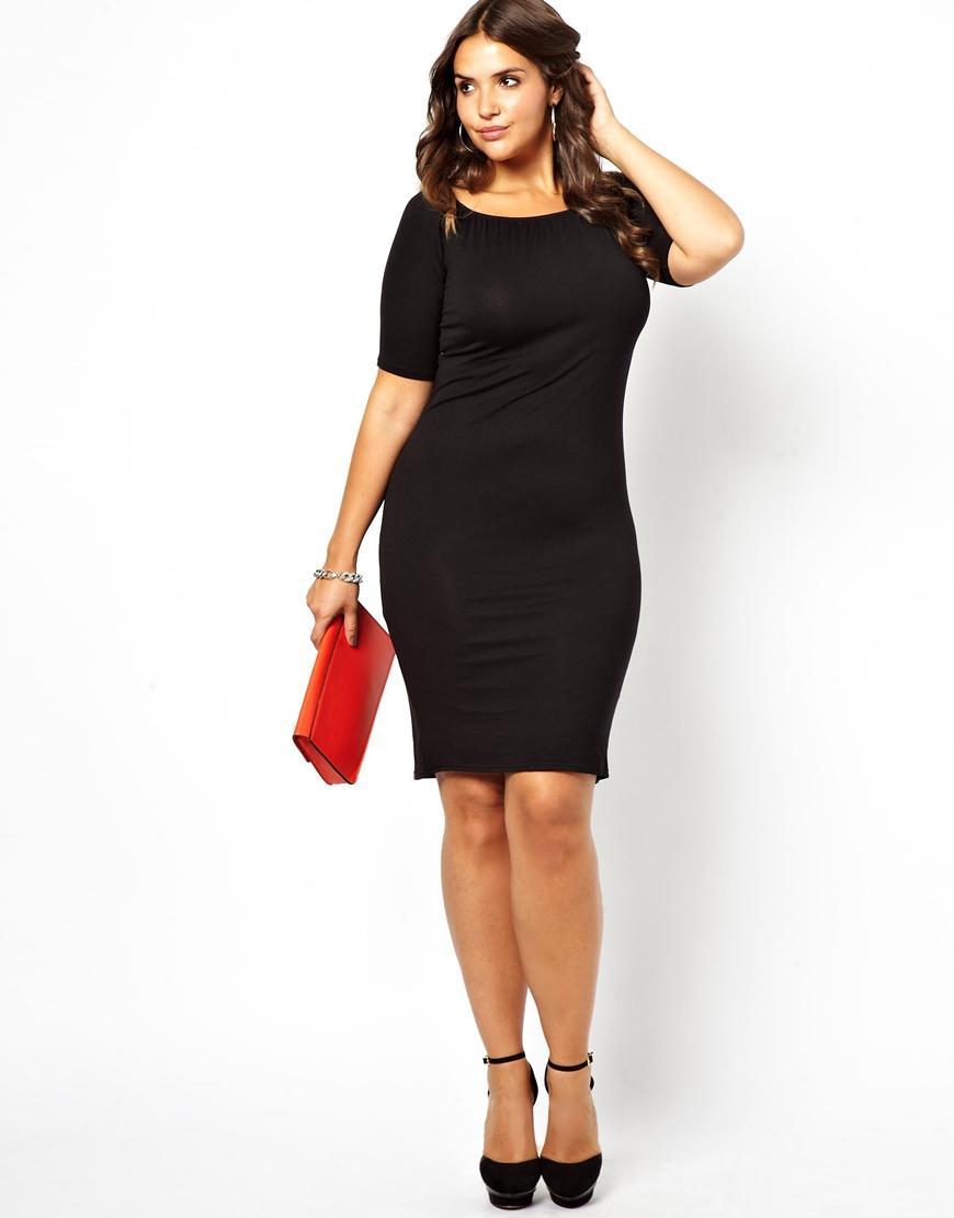 Robe noir femme ronde