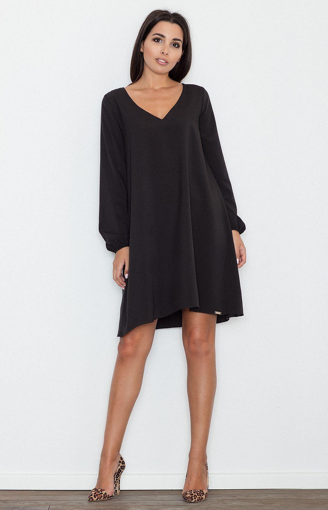Robe noir fluide