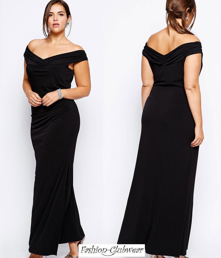 Robe noir grande taille pas cher