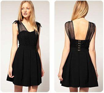 Robe noir habillée