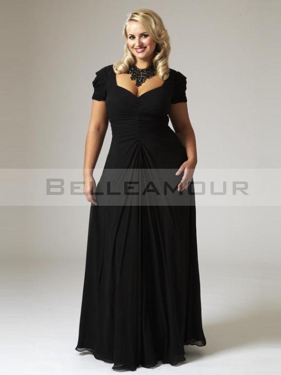 Robe noir longue grande taille