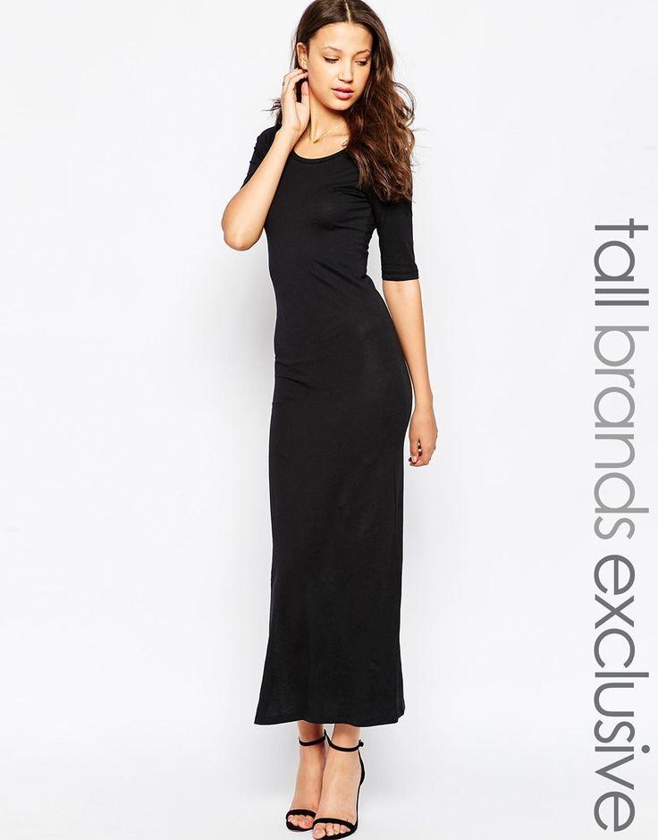 Robe noir longue moulante