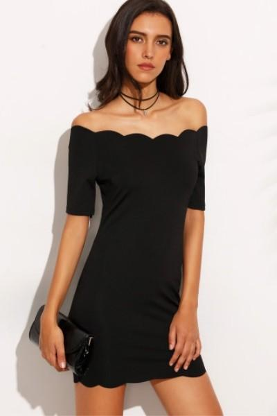 Robe noir moulante courte