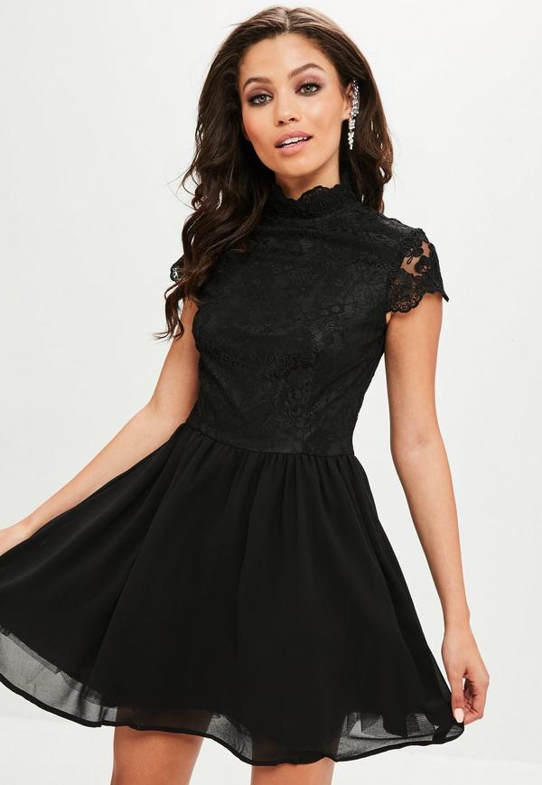 Robe noir patineuse