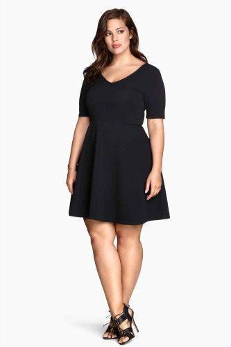 Robe noir pour femme ronde