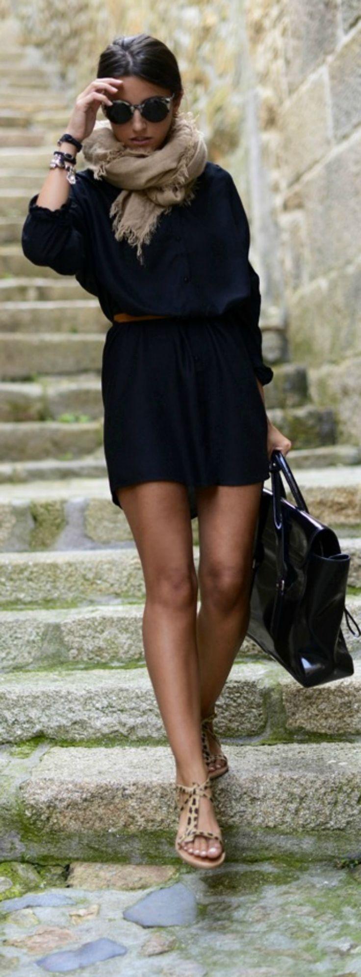 Robe noir quel collant