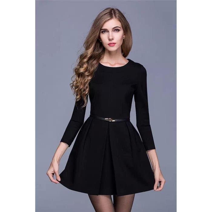 Robe noir simple pas cher