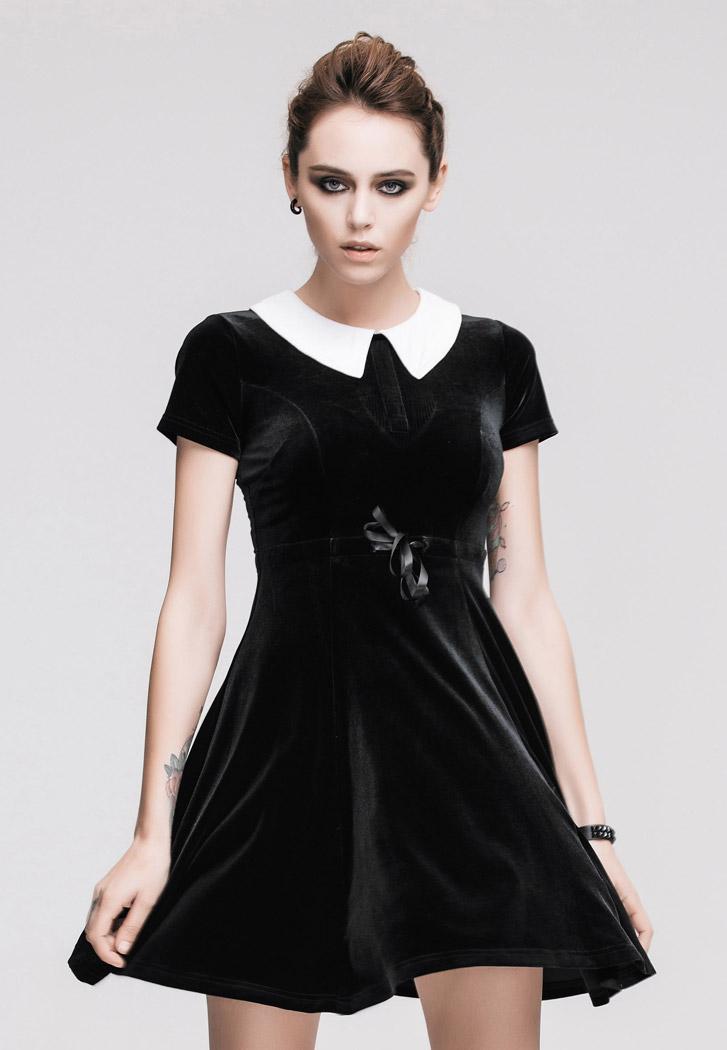 Robe noir velour