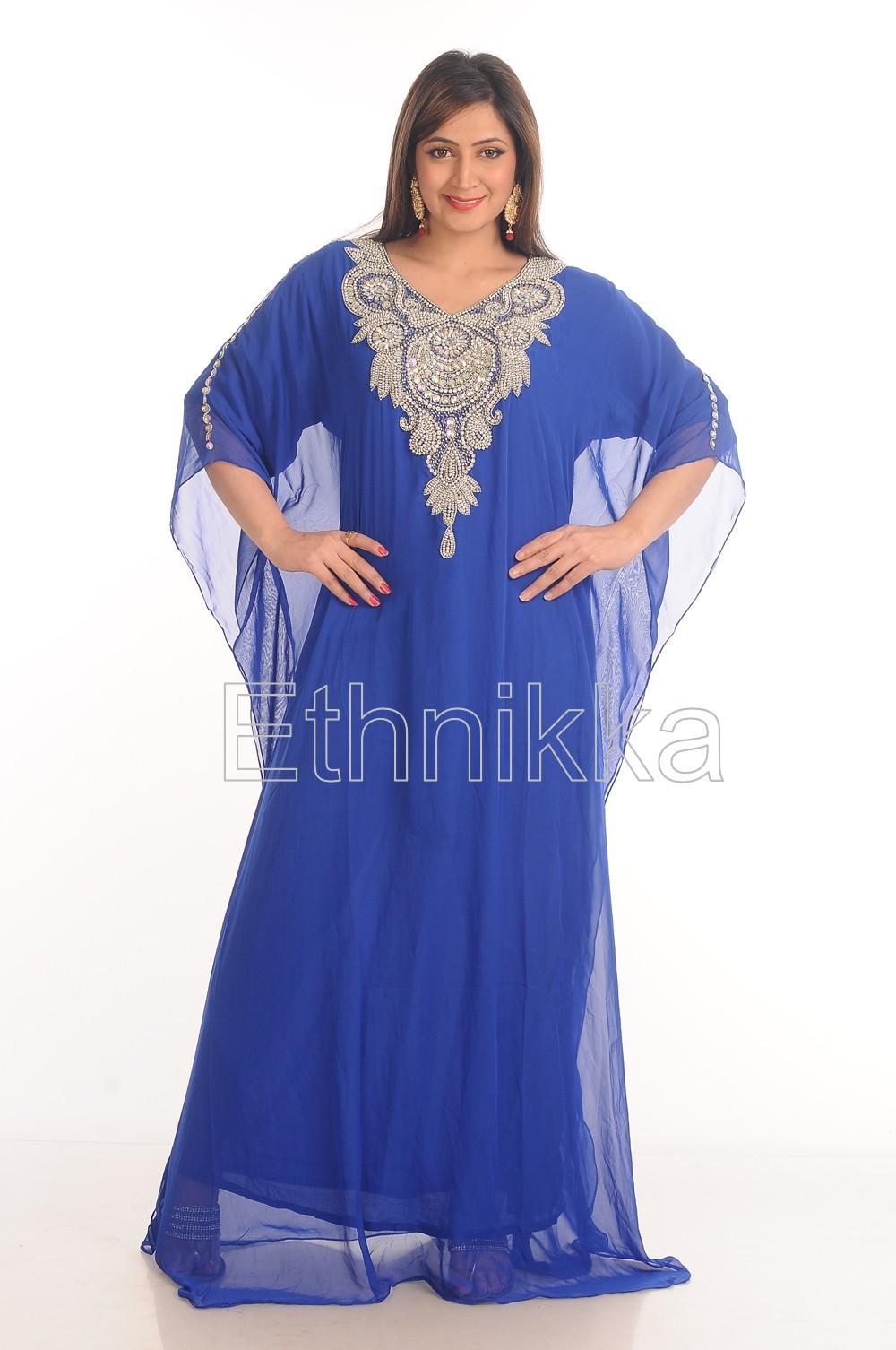 Robe orientale bleu