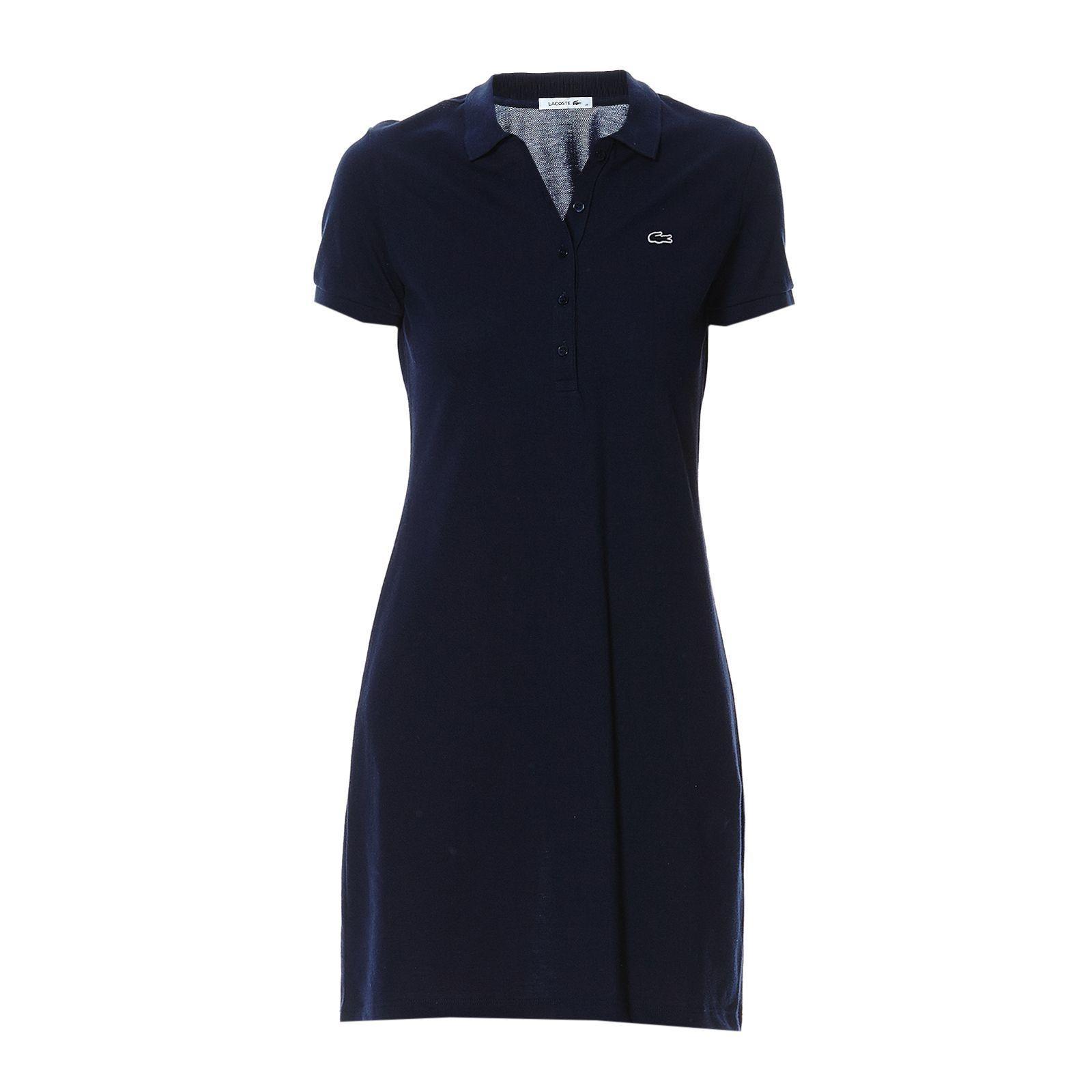 Robe polo bleu marine