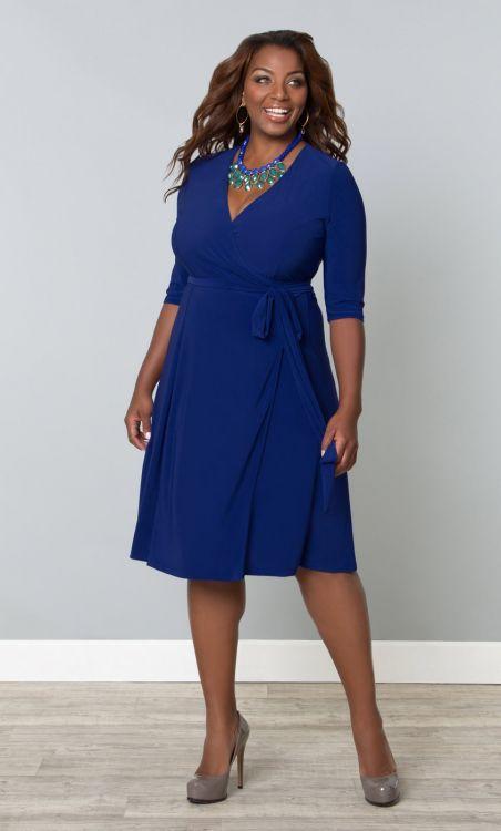 Robe portefeuille bleu