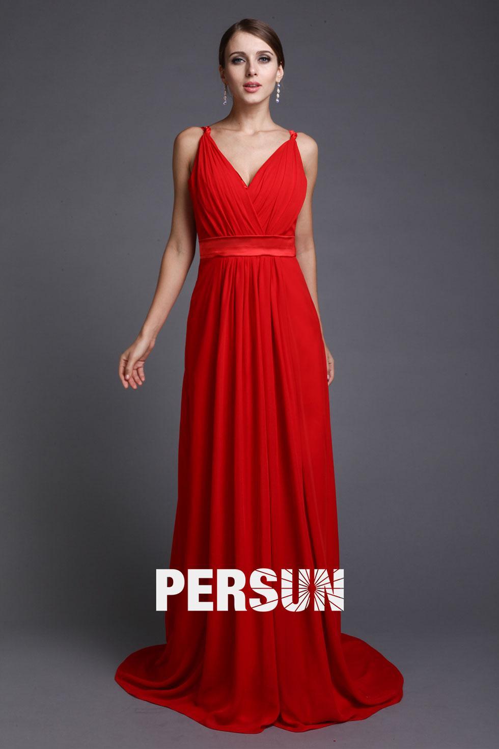 Robe pour invité mariage rouge