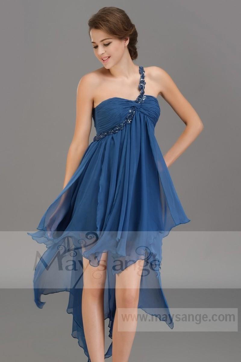 Robe pour un mariage bleu