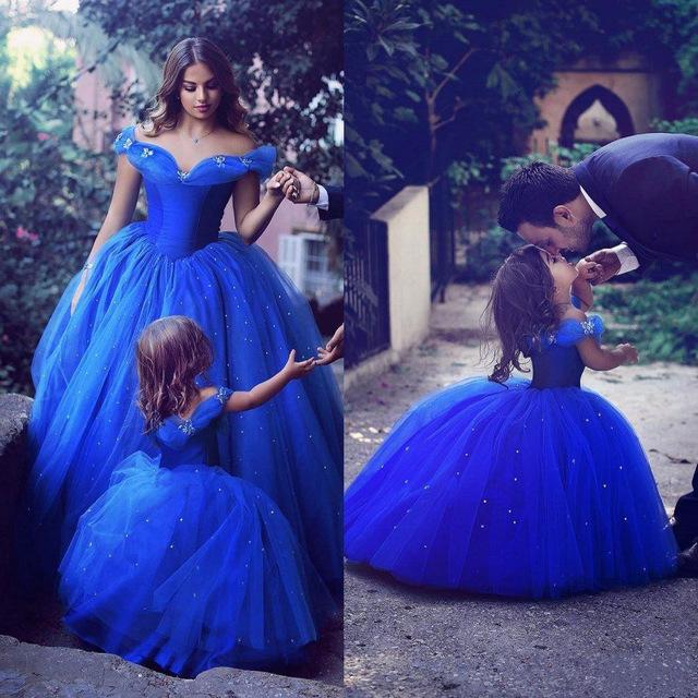 Robe princesse mariage bleu